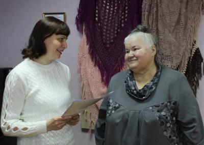Выставка пуховых шалей открылась в Рассказово