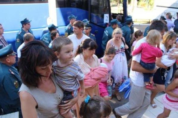 Сегодня в Тамбов приехала очередная группа беженцев с Украины