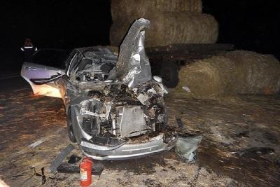 В Тамбовской области иномарка врезалась в трактор: погибла женщина