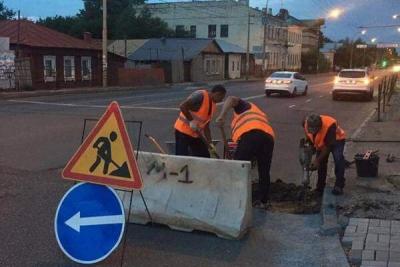 В Тамбове ремонтируют улицы Октябрьскую и Красную