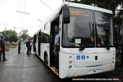 В Тамбов прибыли новые низкопольные автобусы
