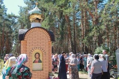 В Пригородном лесу Моршанска построили часовню