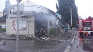 ВТамбове сгорел цветочный павильон