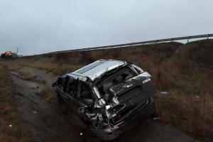 """В Тамбовской области """"Тойота"""" перевернулась в кювет: пятеро пострадали"""