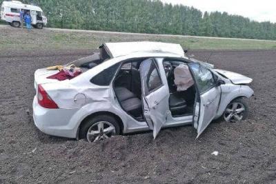 """В Кирсановском районе автомобиль """"Форд Фокус"""" перевернулся в кювет"""