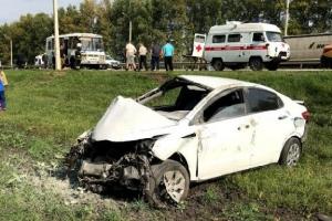 Под Тамбовом иномарка врезалась впассажирский автобус: есть пострадавшие