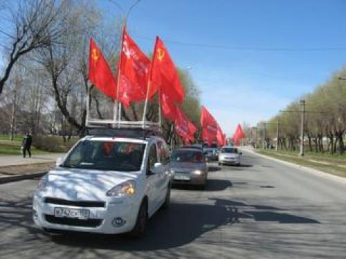 В Тамбове стартовал автопробег, посвященный 68-й годовщине Победы над фашистской Германией