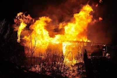 В Токаревском районе мужчина случайно сжег три соседских сарая и быка