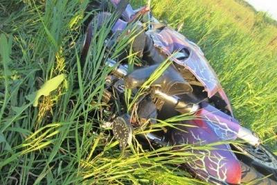 В Тамбовской области мотоциклист протаранил автомобиль