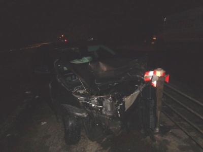 """В Никифоровском районе """"Лада"""" врезалась в отбойник и столкнулась с грузовиком"""