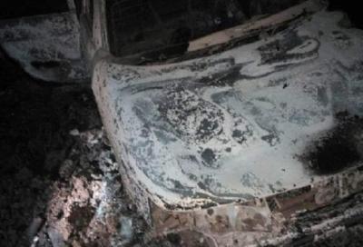 В Бондарском районе в сгоревшем автомобиле нашли тело мужчины