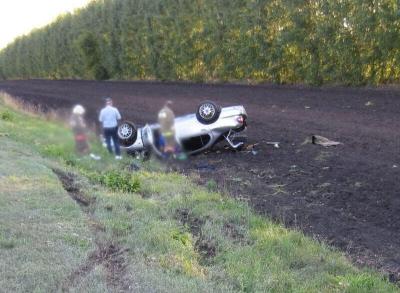 В Кирсановском районе водитель перевернулся в кювет